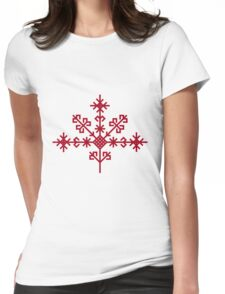 Austras koks Ancient Latvian Symbol Womens Fitted T-Shirt