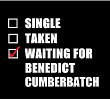 Waiting For Benedict Cumberbatch Photographic Print