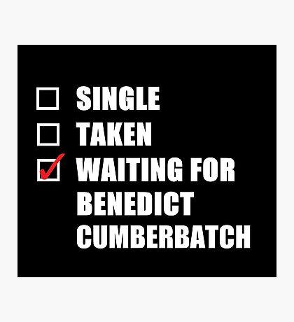 Waiting For Benedict Cumberbatch Photographic Print