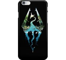 SKYRIM logo (black) iPhone Case/Skin
