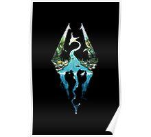 SKYRIM logo (black) Poster