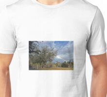 RAINBOW OVER IRONWOOD PARK PALM DESERT, CA Unisex T-Shirt