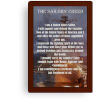 Navy Sailor Creed Poster Canvas Print