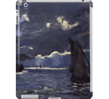 Claude Monet - A Seascape. Shipping by Moonlight  iPad Case/Skin