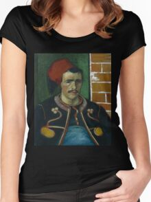 Vincent Van Gogh - The Zouave, June 1888 - 1888 Women's Fitted Scoop T-Shirt