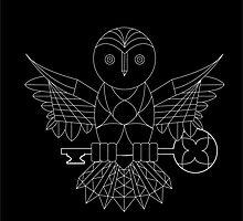 Free Hand Symmetrical Owl  by rbanko