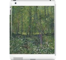 Vincent Van Gogh - Trees and undergrowth, July 1887 - 1887 iPad Case/Skin