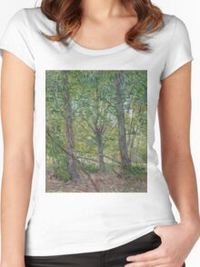 Vincent Van Gogh - Trees, July 1887 Women's Fitted Scoop T-Shirt