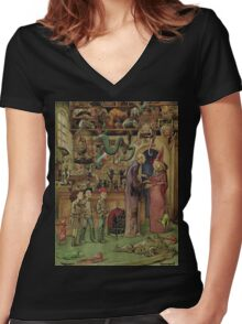 The Magical Menagerie Fantastic Pet Shop Women's Fitted V-Neck T-Shirt