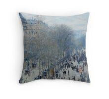 Claude Monet - Boulevard des Capucines (1873 - 1874) Throw Pillow