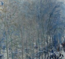 Claude Monet - Boulevard des Capucines (1873 - 1874) Sticker