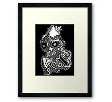 King owl the Thief (White) Framed Print