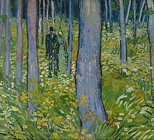 Vincent Van Gogh - Undergrowth with Two Figures, 1890 by famousartworks