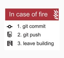 In case of fire Git commit Git push One Piece - Short Sleeve