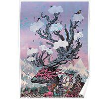 Journeying Spirit (deer) sunset Poster