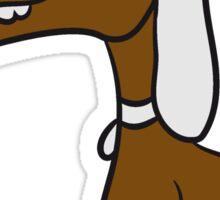 sitting sweet cute little wiener dog funny comic Sticker