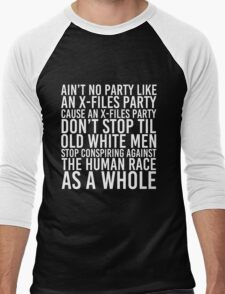 Ain't No Party (X-Files Version) Men's Baseball ¾ T-Shirt
