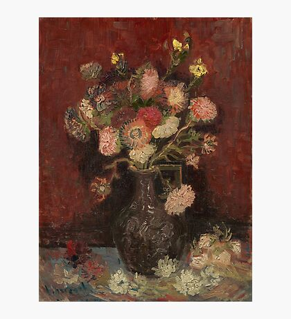 Vincent Van Gogh - Vase with Chinese asters and gladioli, August 1886 - September 1886 Photographic Print