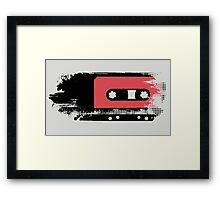 Grunge faded analogue retro audio tape Framed Print