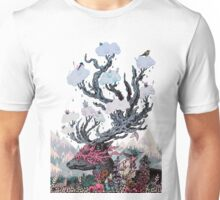 Journeying Spirit (deer) sunset Unisex T-Shirt