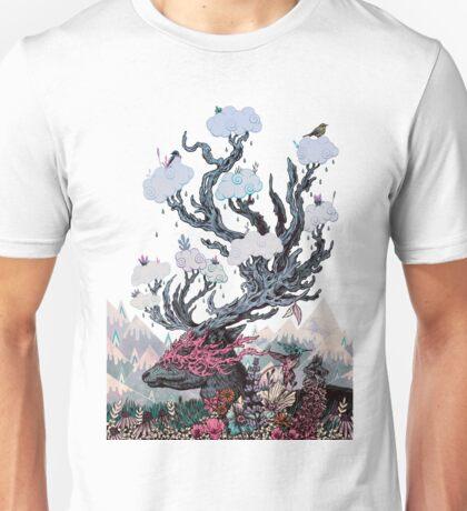 Journeying Spirit (deer) sunset Unisex T-Shirt
