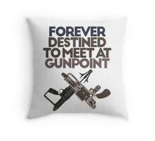 Meet at Gunpoint Throw Pillow