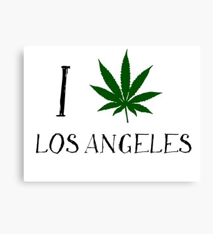 I Love Los Angeles Weed T-Shirts Canvas Print