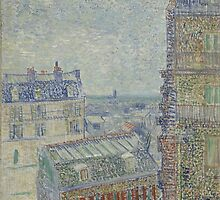 Vincent Van Gogh - View from Theo's apartment, March 1887 - April 1887 by famousartworks