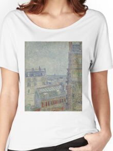 Vincent Van Gogh - View from Theo's apartment, March 1887 - April 1887 Women's Relaxed Fit T-Shirt