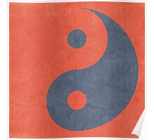 Yin Yang Zen Stencil Poster