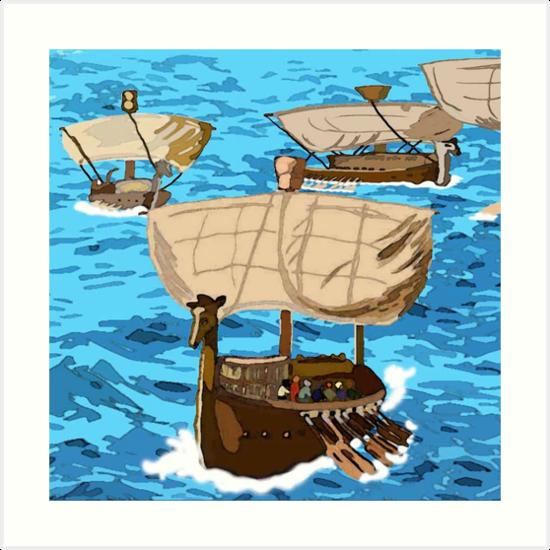 A fleet of ships from tarshish art prints by for 24 hour shirt printing santa rosa