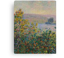 Claude Monet - Flower Beds at Vetheuil (1881) Canvas Print