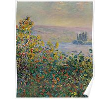 Claude Monet - Flower Beds at Vetheuil (1881) Poster
