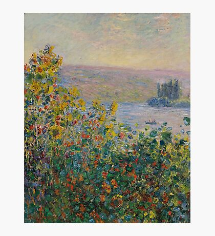 Claude Monet - Flower Beds at Vetheuil (1881) Photographic Print