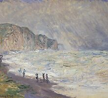 Claude Monet - Heavy Sea at Pourville (1897) by famousartworks