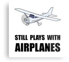 Plays With Airplanes Metal Print