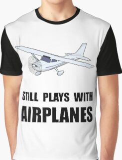 Plays With Airplanes Graphic T-Shirt