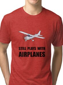 Plays With Airplanes Tri-blend T-Shirt