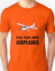 Plays With Airplanes Unisex T-Shirt