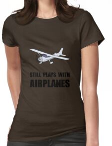 Plays With Airplanes Womens Fitted T-Shirt