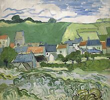 Vincent Van Gogh - View of Auvers, May 1890 - June 1890 by famousartworks
