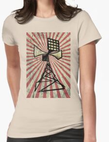 Siren radio tower Womens Fitted T-Shirt