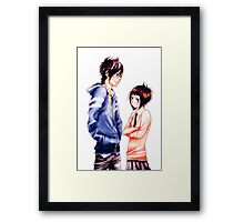 Anime Couple Suki-tte ii na yo Framed Print