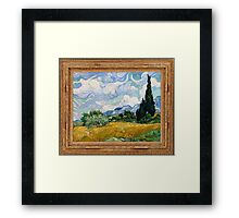 Vincent Van Gogh - Wheat Field with Cypresses, Impressionism. Van Gogh Framed Print