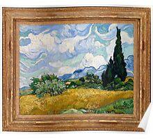 Vincent Van Gogh - Wheat Field with Cypresses, Impressionism. Van Gogh Poster