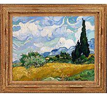 Vincent Van Gogh - Wheat Field with Cypresses, Impressionism. Van Gogh Photographic Print