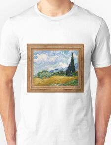 Vincent Van Gogh - Wheat Field with Cypresses, 1889 T-Shirt