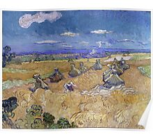 Vincent Van Gogh - Wheat Fields with Reaper, Auvers, 1890 Poster