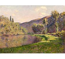 Claude Monet - Jeufosse  The Effect in the Late Afternoon  Photographic Print