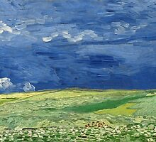 Vincent Van Gogh - Wheatfield under thunderclouds, July 1890 - 1890 by famousartworks